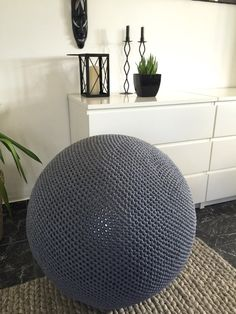 Gym Ball au Crochet, couvertures-Pilates Ball couverture - Exercice Ball tricot couverture - pouf Ball couverture - pépinière Decor - Kids boules -