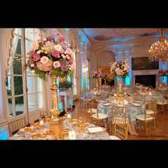 Rosecliff Mansion Venue 3, Rosecliff mansion in Newport, Rhode Island Lazaro bridesmaids dresses Monique Lhuillier wedding gown designer french tulips peonies lily of the valley cabbage roses calla lillies orchids