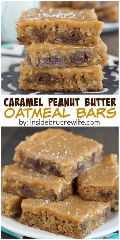 These caramel peanut butter bars are absolutely delicious! Sweet and salty in every bite of this dessert recipe!