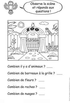 Observe la scène et réponds aux questions ! Preschool, This Or That Questions, Cher, Grade 1, Words, French, Animals, Custom In, Animales