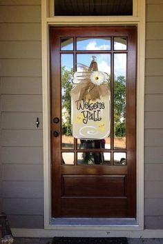 Mason Jar Door Hanger Summer Wreath Welcome by SouthernStyleGifts