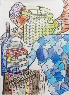 Contour Still Life Art At Woodstock: Grade 9