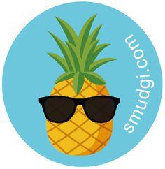 Sunny Pineapple Sticky Patch Pack of 10