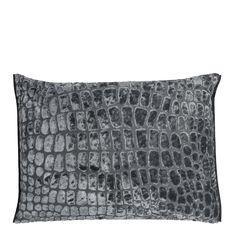 Nabucco Slate Throw Pillow | Designers Guild