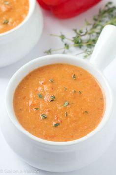 An out-of-this-world delicious cauliflower roasted red pepper soup recipe! This will be your new favorite soup - it's ours! Our family absolutely loves soup and I am really talking about myself. T...