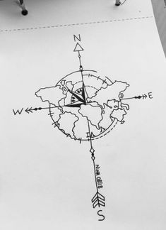 travel drawing Travel Art Drawing Inspiration 64 I - travel Map Tattoos, Tattoo Drawings, Body Art Tattoos, Tatoos, Seele Tattoo, Karten Tattoos, Diy Jewelry Unique, Women's Jewelry, Jewelry Bracelets
