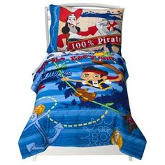 Disney Jake and the Neverland Pirates  - 4 Piece Toddler Set w/ comforter $37.99 Gavin
