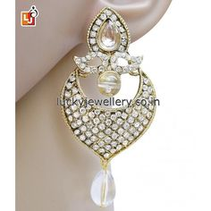 Looking for some cool and funky #jewelry accessories. Try this Designer Hanging Drop #Earring. Get it now online from #LuckyJewellery. This #monsoon look stunning with this stylish earring. #jewellery #fashion #style #ethnic #wedding http://ift.tt/29V21MN
