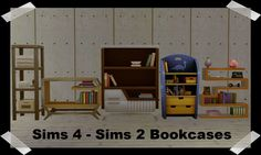 Sims 4 - Sims 2 Bookcases - These are my favorite... - Dee's Sims 2 Downloads