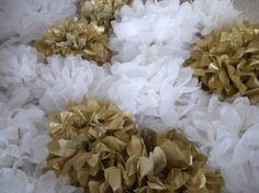 DIY tissue paper pom poms. I'm doing this