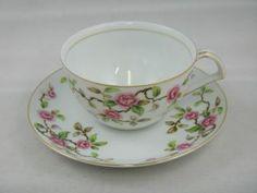 Tea Cups & Saucers Vintage Kent China Japan Maytime Gold Trim Nr photo