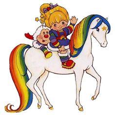 Rainbow Brite Redux ❤ liked on Polyvore featuring cartoon
