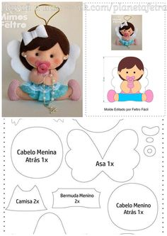 icu ~ Pin on Serger projects ~ Best 12 – Page 337981147036559046 – SkillOfKing. Felt Doll Patterns, Felt Animal Patterns, Stuffed Animal Patterns, Felt Crafts Diy, Baby Crafts, Serger Projects, Sewing Projects, Baby Shower Souvenirs, Doll Videos