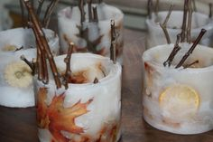 handmade hurricane candles by Candles-upon-Thames.