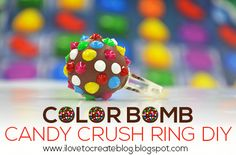 iLoveToCreate Blog: Color Bomb Candy Crush Saga Ring DIY