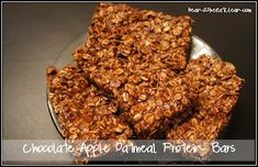 Chocolate Apple Oatmeal Protein Bars