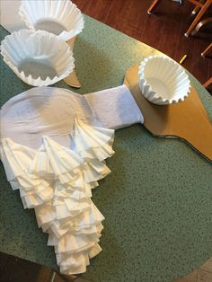 Angel Wings Out Of Cardboard A Little Felt And Coffee Filters Hot Glue Was Used To Attach