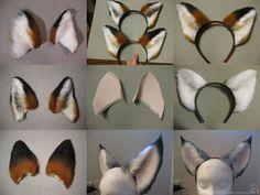 Ear Commission Examples by CanineHybrid on DeviantArt - Piratenkostüm Damen Cosplay Diy, Halloween Cosplay, Halloween Fun, Fursuit Tutorial, Wolf Ears, Fox Costume, Ear Headbands, Diy Mask, Animal Ears
