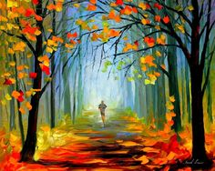Stunning Paintings Fall Season Creative Downloaded Man Leaves Nature Loneliness Love Attractions Landscapes Trees Scenery Pre View Dreams Autumn Panoramic Beautiful Forests Misty Seasons Colorful Colors Forest Wallpapers For Desktop Free Download