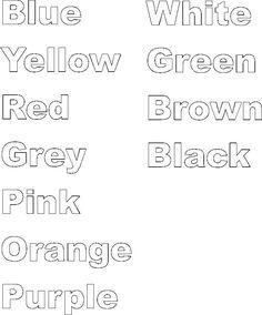 Fichas de los colores en inglés Estas fichas de inglés de los colores son muy divertidas y entretenidas y refuerzan el vocabulario ...