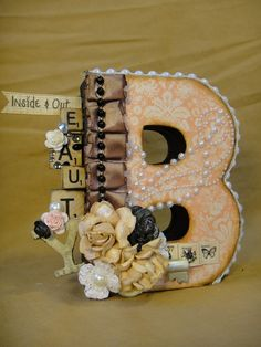 And a few more altered letters, using some of my favorite Prima papers :)  Fancy Letters, Letter A Crafts, Wood Letters, Monogram Letters, Letters And Numbers, Alphabet Letters, Cardboard Letters, Floral Letters, Letter Art