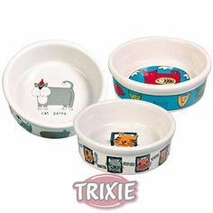 Für jede Katze einen eigenen Futternapf - Trixie Keramik, Katze Schüssel 0,2 l/ø 11 cm, weiß