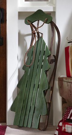 Christmas tree sliegh