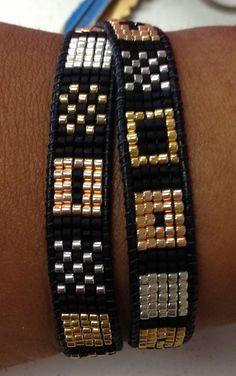 off loom beading techniques Loom Bracelet Patterns, Bead Loom Bracelets, Bead Loom Patterns, Jewelry Patterns, Beading Patterns, Beading Ideas, Beading Supplies, Jewelry Bracelets, Men's Jewelry