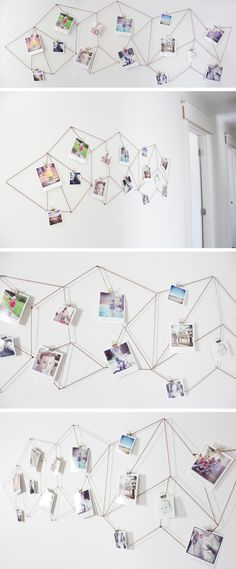DIY: geometric photo display - from the Caldwell Project