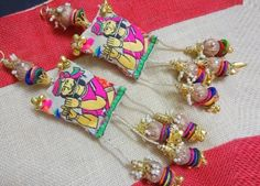 Rajasthani style Latkan embellished with beads and ghungroos