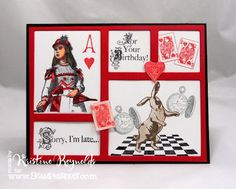 Die cut frame by Creative Cuts and More. Wonderland stamps by Stampendous Impressions