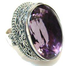$159.25 Big!! Love Bloom!! Purple Ametrine Sterling Silver ring s. 9 at www.SilverRushStyle.com #ring #handmade #jewelry #silver #ametrine