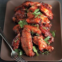 Found in our 2020 Spring Gatherings Magazine. These wings could be used as an appetizer or main dish and are part of our Make Your Own Celebration Plate collection, perfect for a backyard party!