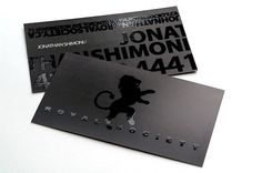 16PT Spot UV Coated Business Card from UV Cards for Royal Society
