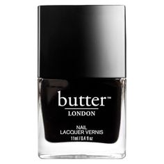 butter LONDON Trend Nail Lacquer 11ml - Union Jack Black (105 HRK) ❤ liked on Polyvore featuring beauty products, nail care, nail polish, nails, beauty, butter london, butter london nail lacquer, formaldehyde free nail polish and butter london nail polish