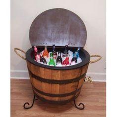 Half Whiskey Barrel-Drink Cooler