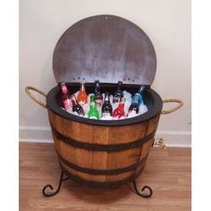 Half Whiskey Barrel-Drink Cooler