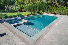 Image result for rectangle pool with baja shelf