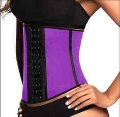 Latex waist corset that simulates a slimmer and fitter female body (Multiple Colors Available)