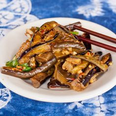 A simple yet authentic Chinese side dish recipe. Eggplant with Chili and Garlic - a must try.