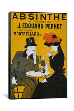 Canvas Print: Absinthe (Vintage Poster)