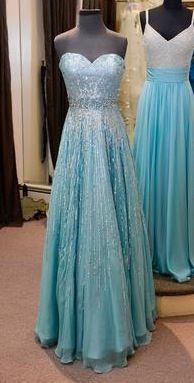 Sequined Blue Prom Dress.  Looks like Elsa's dress from Disney's Frozen! I love iiiiiiiit!!!!
