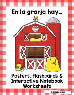 From FUNtasticO Spanish Materials On TeachersNotebook 47 Pages Very Cute Set To Learn The Farm Animals In