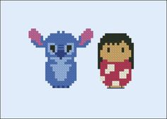 Lilo & Stitch Disney chibi PDF cross stitch by cloudsfactory
