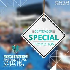 Don't Miss our #Beach #Club #Special #Promotion Weekdays & Weekends at Veer Beach Resort Kaslik  Entrance 25 $ - Vip Bed 25 $ - Jacuzzi 150 $ more info :70-441444