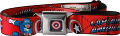 Marvel Comics Captain America Seatbelt Belt Red : Belts