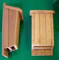 A sample of bat boxes that can be built to attract bats to your garden