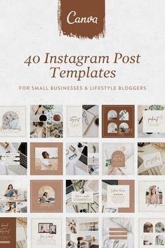 Social Media Template, Social Media Design, Instagram Design, Instagram Posts, Instagram Feed, Insta Layout, Instagram Post Template, Design Elements, Branding Design