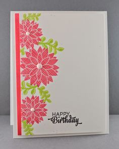 The Mango Boys and Me: Happy Birthday.  Velveteen stamping - using Hero Arts envelope in white on base and then overstamping.