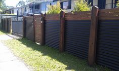 Privacy fence ideas using metal or cedar